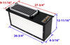 TorkLift PowerArmor Solar Locking Battery Box - 6V and 12V Batteries - Diamond Plate Aluminum 6V Batteries,12V Batteries TLA7708RS