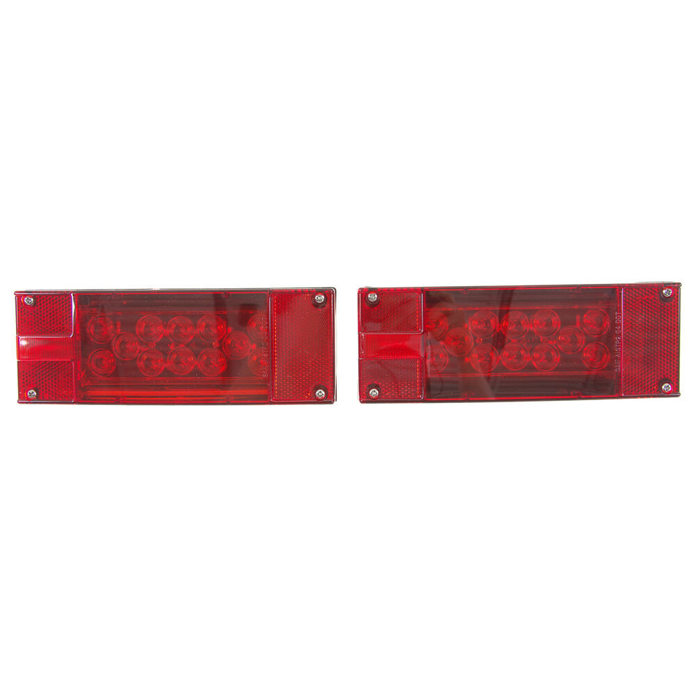 Led Combination Trailer Tail Lights Submersible Driver And Pin Plug Wiring Diagram Besides 7 Flat Passenger Side 25 Wire Harness Optronics Tll16rk