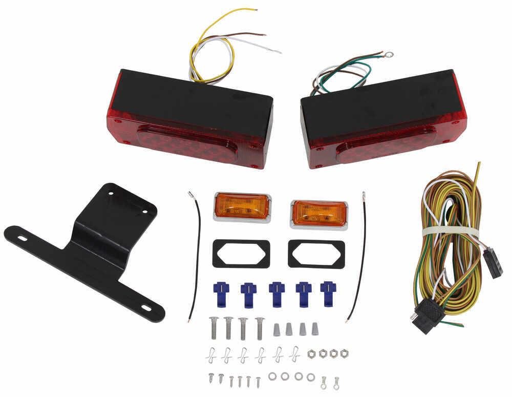 Submersible  Over 80 U0026quot  Aero Pro Led Trailer Light Kit W 25