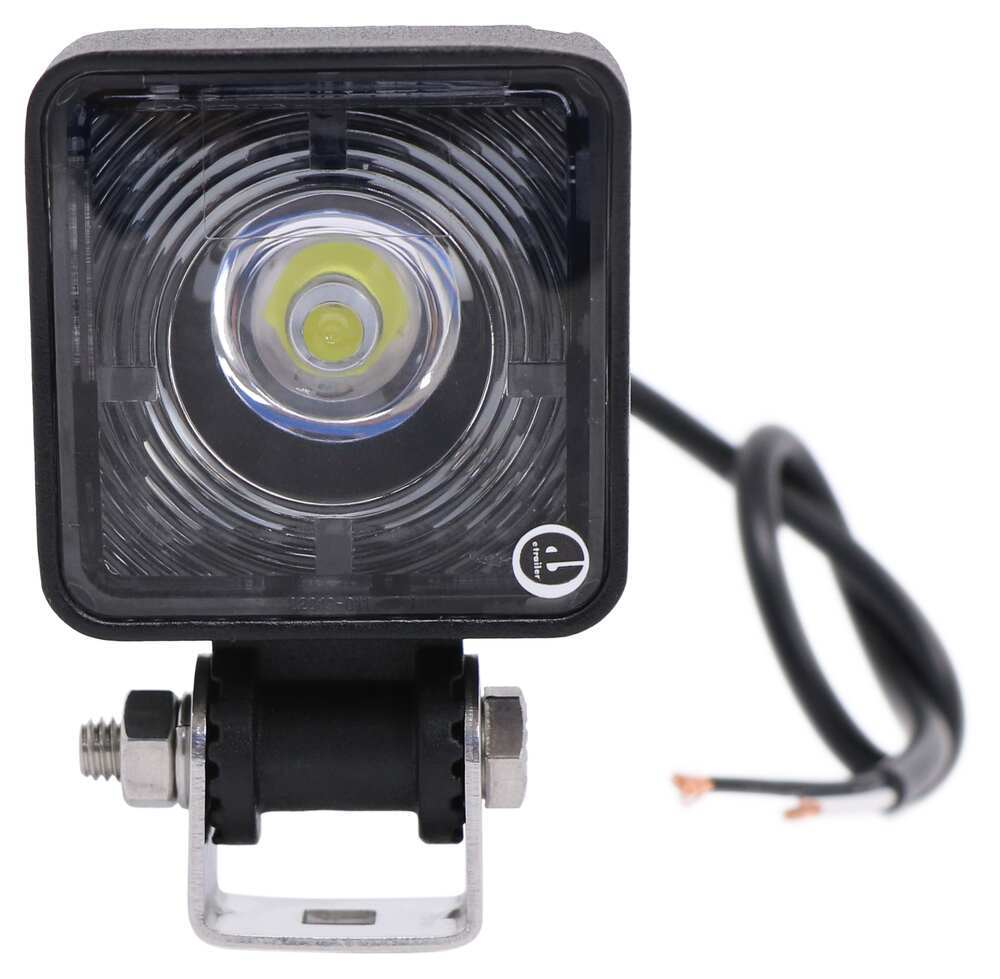 Opti-Brite LED Work Light - Flood Beam - 560 Lumens - Black Aluminum - Square - 12V/24V Square TLL51FB