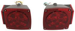 "LED Combination Tail Light Kit for Trailers under 80"" Wide - Submersible - Driver and Passenger"