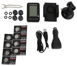 TireMinder Tire Pressure Monitoring System for Aluminum Valve Stems - 4 Transmitters