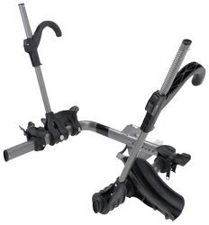 "Kuat Transfer 2 Bike Platform Rack - 1-1/4"" and 2"" Hitches - Wheel Mount - Tilting - Gray"