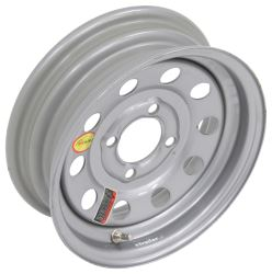 "Taskmaster Steel Modular Trailer Wheel - 12"" x 4"" Rim - 4 on 4 - Silver"