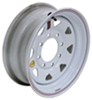 "Taskmaster Steel 8-Spoke Trailer Wheel - 16"" x 6"" - 8 on 6-1/2 - White"
