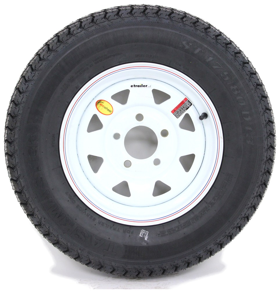 Trailer Wheels Rims : Taskmaster st d bias trailer tire with quot white