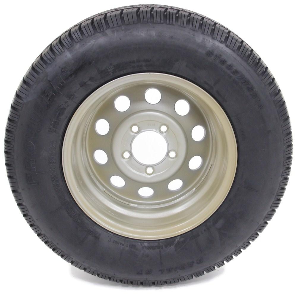 provider st205 75r14 radial trailer tire w 14 silver mod wheel 5 on 4 1 2 lr c taskmaster. Black Bedroom Furniture Sets. Home Design Ideas