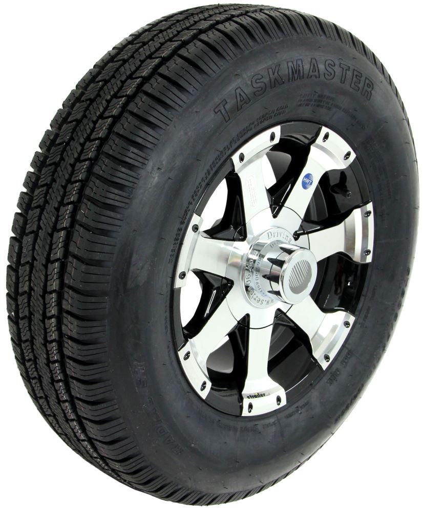 taskmaster st205 75r14 radial tire w 14 series 06 aluminum wheel 5 on 4 1 2 lr c black. Black Bedroom Furniture Sets. Home Design Ideas