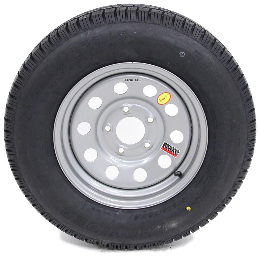 provider st205 75r15 radial trailer tire w 15 silver mod wheel 5 on 5 lr c taskmaster. Black Bedroom Furniture Sets. Home Design Ideas