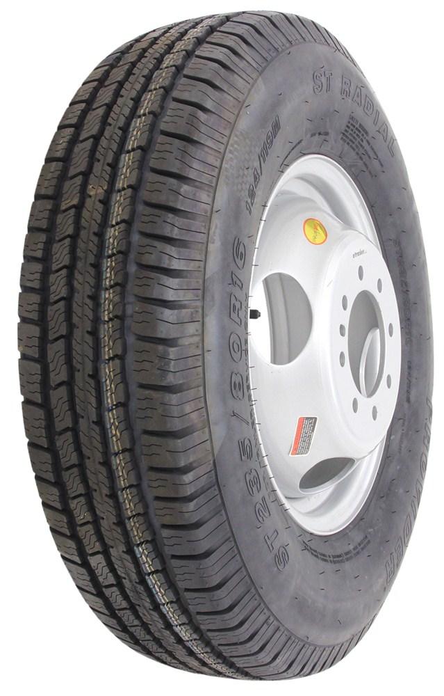"""Provider ST235/80R16 Trailer Tire w/ 16"""" Silver Dual Wheel ..."""