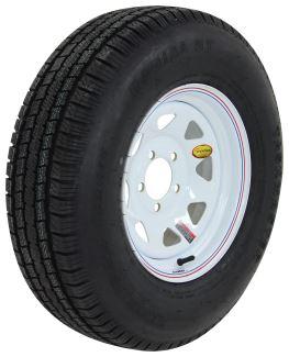 provider st215 75r14 radial trailer tire with 14 white spoke wheel 5 on 4 1 2 lr d. Black Bedroom Furniture Sets. Home Design Ideas