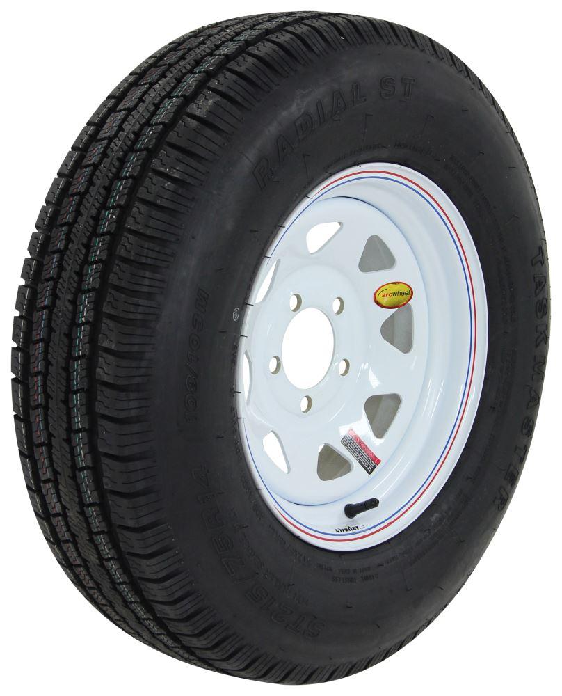 honda pilot provider st215 75r14 radial trailer tire with 14 white spoke wheel 5 on 4 1 2 lr d. Black Bedroom Furniture Sets. Home Design Ideas