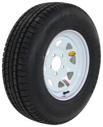 "Provider ST215/75R14 Radial Trailer Tire with 14"" White Spoke Wheel - 5 on 4-1/2 - LR D - TTWA21514RTM45WS"
