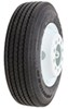 "Provider 215/75R17.5 Radial Tire w/ 17-1/2"" White Dual Wheel - Offset - 10 on 8-3/4 - LR H 17-1/2 Inch TTWA215H-10WD"