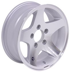 "Aluminum Hi-Spec Series 04 Star Mag Trailer Wheel - 14"" x 5-1/2"" Rim - 5 on 4-1/2"