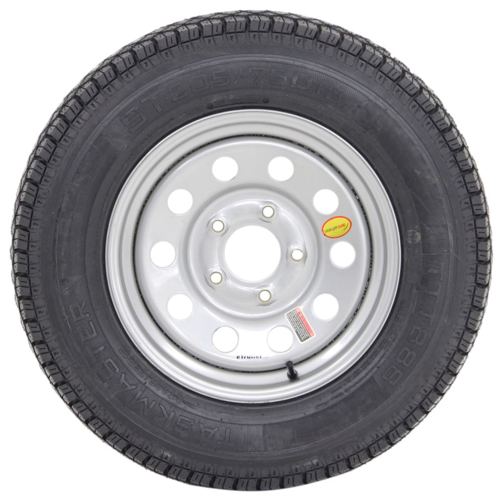 "Taskmaster ST205/75D15 Bias Trailer Tire with 15"" Silver ..."
