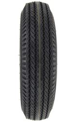 "Taskmaster 5.30-12 Bias Trailer Tire with 12"" White Spoke Wheel - 5 on 4-1/2 - Load Range C"