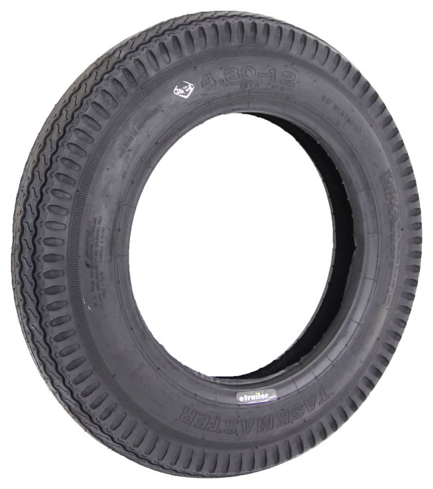 Taskmaster 4.80-12 Bias Trailer Tire - Load Range C Bias Ply Tire TTWSF48012C