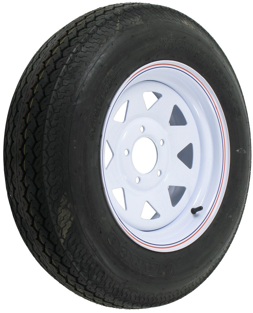 st205 75 d15 bias trailer tire with 15 steel wheel 5 on 4 3 4 load range c redline tires. Black Bedroom Furniture Sets. Home Design Ideas