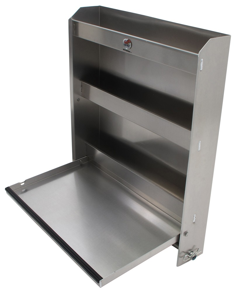 Tow Rax Aluminum Storage Cabinet W Folding Tray 30