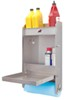 "Tow-Rax Aluminum Storage Cabinet w/ Folding Tray - 23"" Tall x 12"" Wide - Machined Finish 5-3/16T x 3W Inch TWSPJCA"