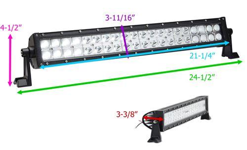 optronics led off road light bar 4 521 lumens mixed. Black Bedroom Furniture Sets. Home Design Ideas