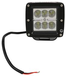 LED Work Light - Flood Beam - 780 Lumens - Post Mount - Black Aluminum - Square - Qty 1
