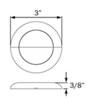 Optronics 3 Inch Diameter RV Lighting - UCL60CB