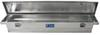 UWS Truck Bed Toolbox - Narrow Crossover - Low Profile - Slim Line - 3.5 cu ft - Bright Aluminum Aluminum UWS00156