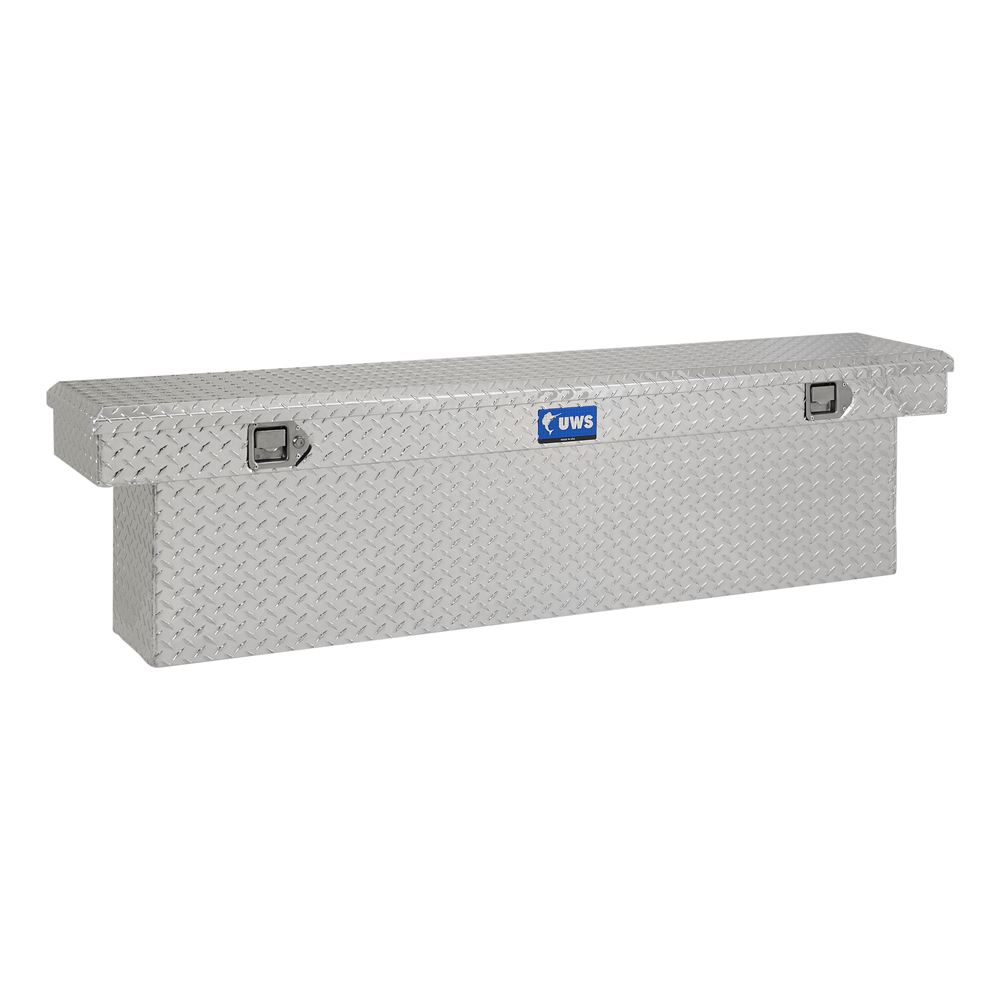 UWS Truck Bed Toolbox - Narrow Crossover - Slim Line Series - 6.3 cu ft - Bright Aluminum Small Capacity UWS00405
