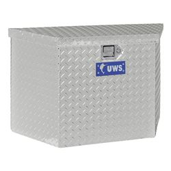 UWS A-Frame Trailer Toolbox - 4.1 cu ft - Bright Aluminum