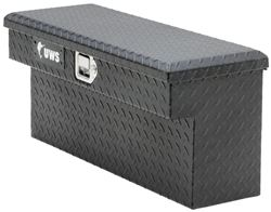 "UWS UTV L-Shaped Side Rail Toolbox - Single Lid - 33"" Long - 2.45 cu ft - Matte Black"