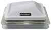 ventline rv vents and fans roof vent with 12v fan ventadome trailer w/ - manual lift 14-1/4 inch x white
