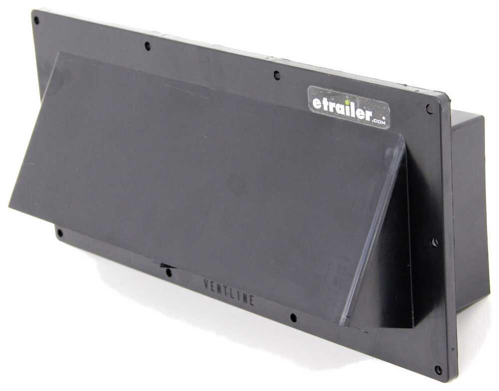 "Ventline Exterior Wall Vent for RV Range Hood - Locking Damper - 1-3/4"" Collar - Black Black V2111-55"
