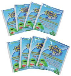 Pure Power Blue Dry Treatment for RV Holding Tanks - Fresh Clean Scent - 2 oz Packet - Qty 8