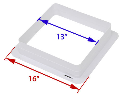 Ceiling Garnish For Ventline Roof Vent 3 1 8 Leg 14 1 4 X 14 1 4 Polar White Ventline Accessories And Parts Va0445 35