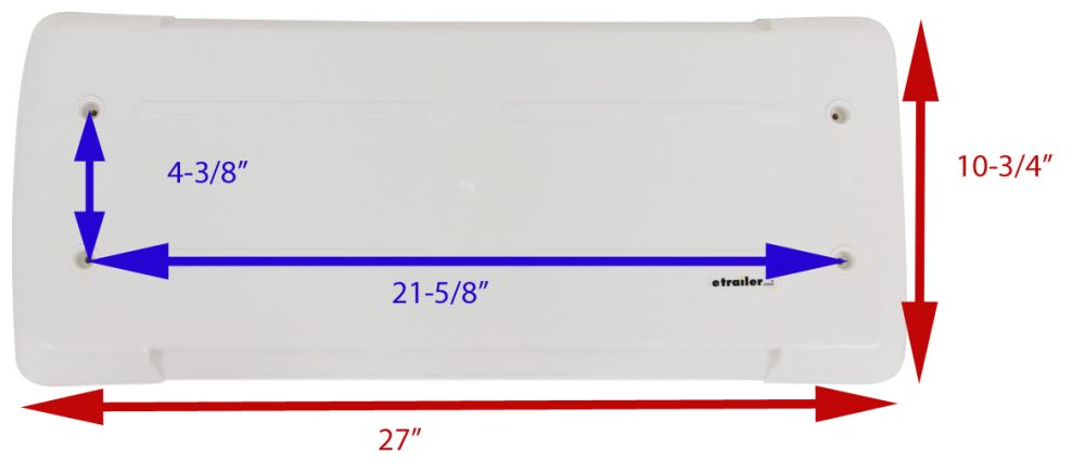 Replacement Lid for Dometic Refrigerator Vents - Polar White