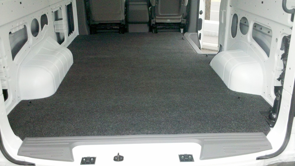 Vanrug Custom Floor Mat For Cargo Vans Charcoal Gray