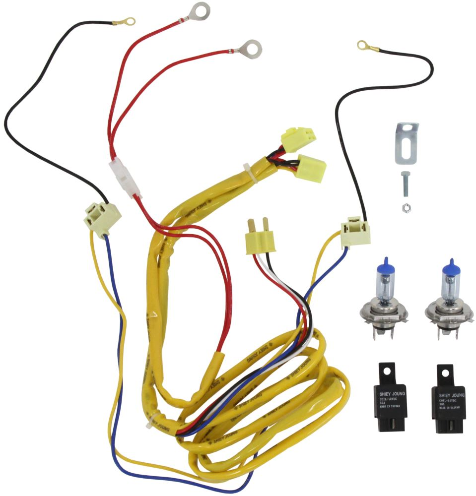 Vision X H4 Halogen Headlight Bulbs With Relay Harness Premium 2004 Honda Odyssey Wiring Melted White High Wattage Qty 2 Vehicle Lights Vx Hh4 R