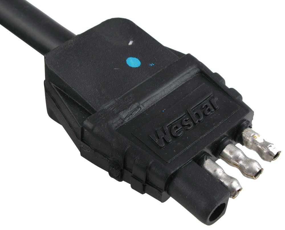 Wesbar 4-pole Flat Connector W   Jacketed Cable