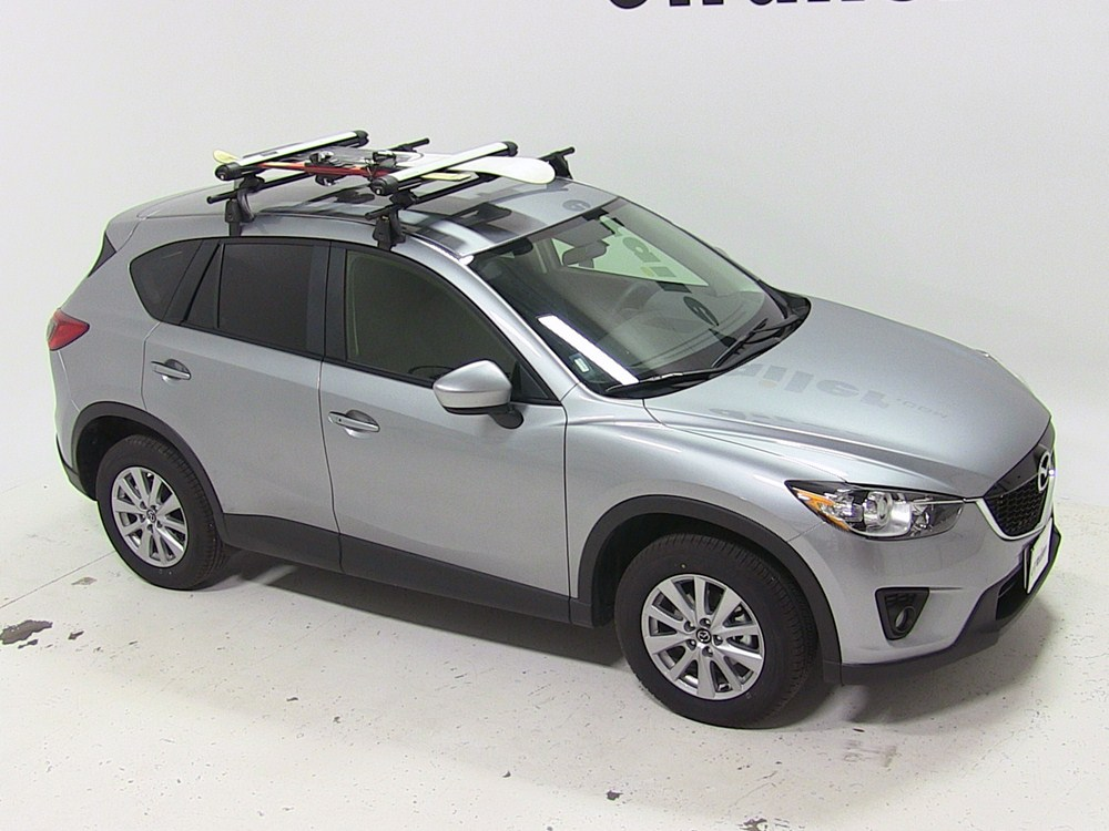 Mazda Cx 5 Whispbar Locking Rooftop Ski And Snowboard