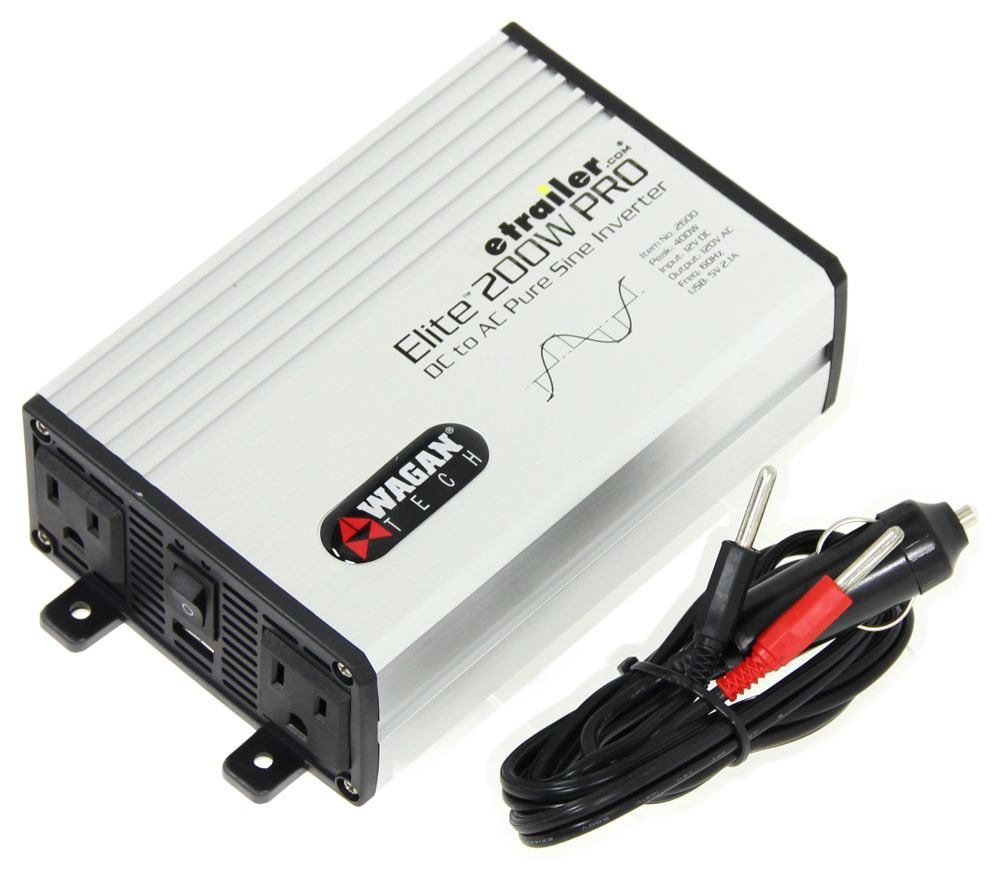 Wagan Elite 200 Watt Pro Pure Sine Wave Power Inverter With Usb How To Make A Simple Modified Circuit Port 12v Accessories Wc2600