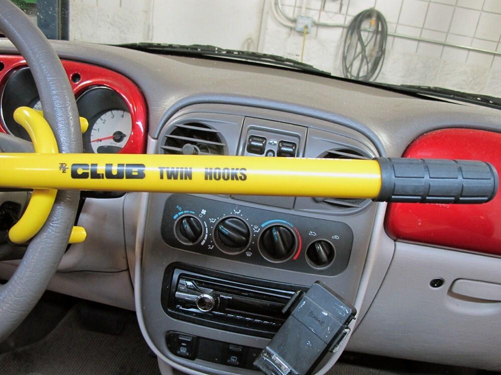 The Club Twin Hooks Vehicle Steering Wheel Lock - Chromoly