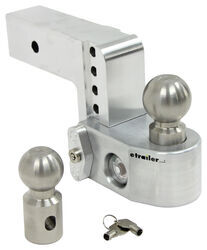 "Weigh Safe 2-Ball Mount w/ Built-In Scale - 2-1/2"" Hitch - 4"" Drop, 5"" Rise - 12.5K"
