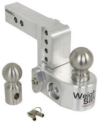 "Weigh Safe 2-Ball Mount w/ Built-In Scale - 2"" Hitch - 4"" Drop, 5"" Rise - 10K"