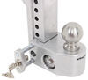 "Weigh Safe 2-Ball Mount w/ Built-In Scale - 2"" Hitch - 6"" Drop, 7"" Rise - 10K Fits 2 Inch Hitch WS6-2"