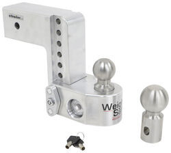 "Weigh Safe 2-Ball Mount w/ Built-In Scale - 3"" Hitch - 6"" Drop, 6"" Rise - 21K"