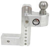 weigh safe ball mounts adjustable mount class v 14500 lbs gtw 2-ball w/ built-in scale - 2-1/2 inch hitch 8 drop 9 rise 14.5k