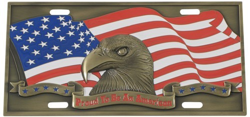 Proud To Be American Specialty Plate3D License Plate Full Plate WSP703