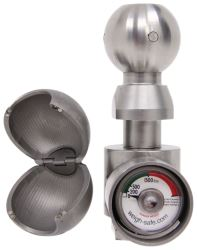 "Weigh Safe 2"" and 2-5/16"" Hitch Ball w/Built-In Scale - Stainless Steel - 10K GTW"